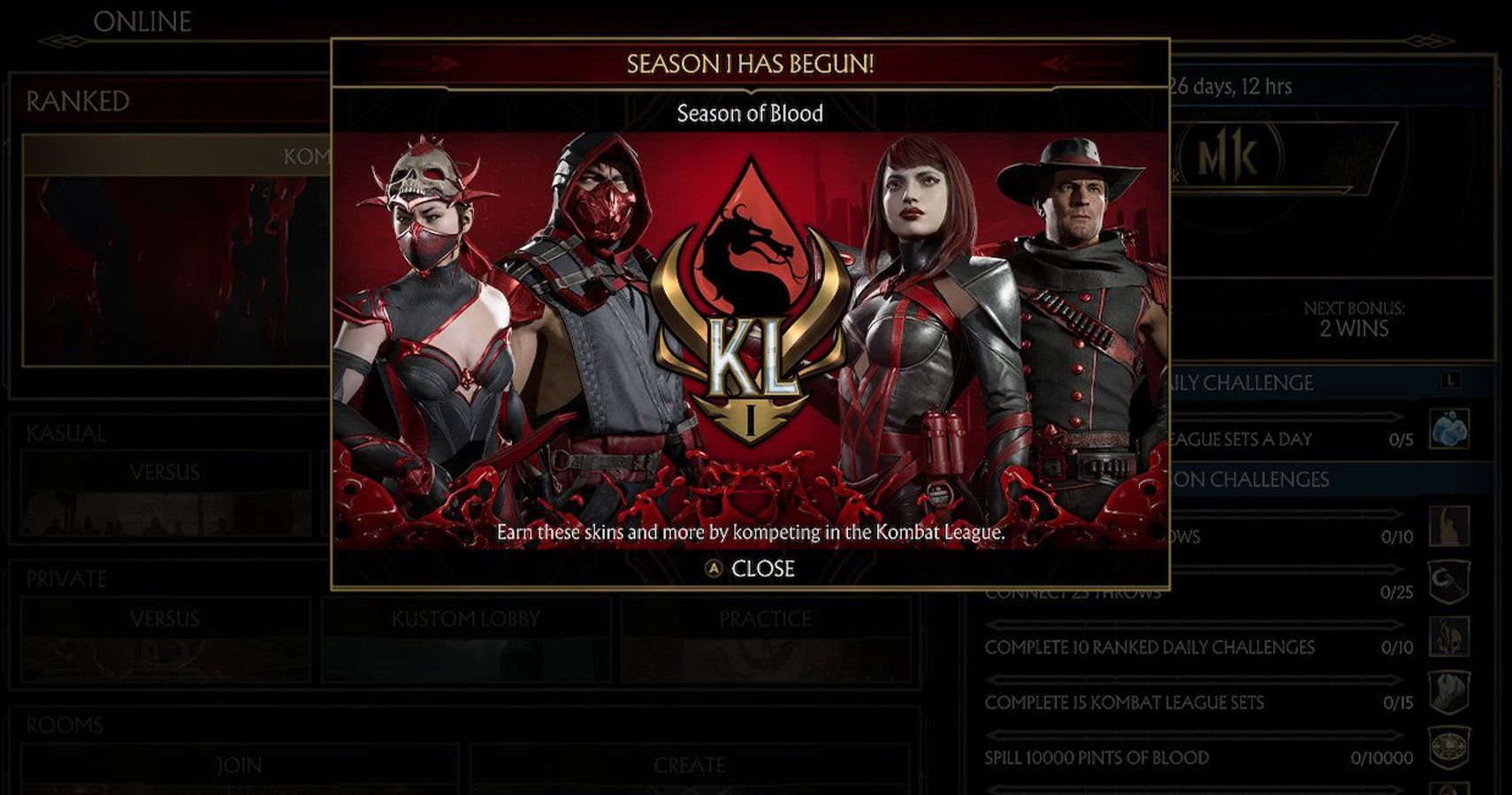 Mortal Kombat 11 Kombat League Season 1: Every Reward, Skin, And Quest