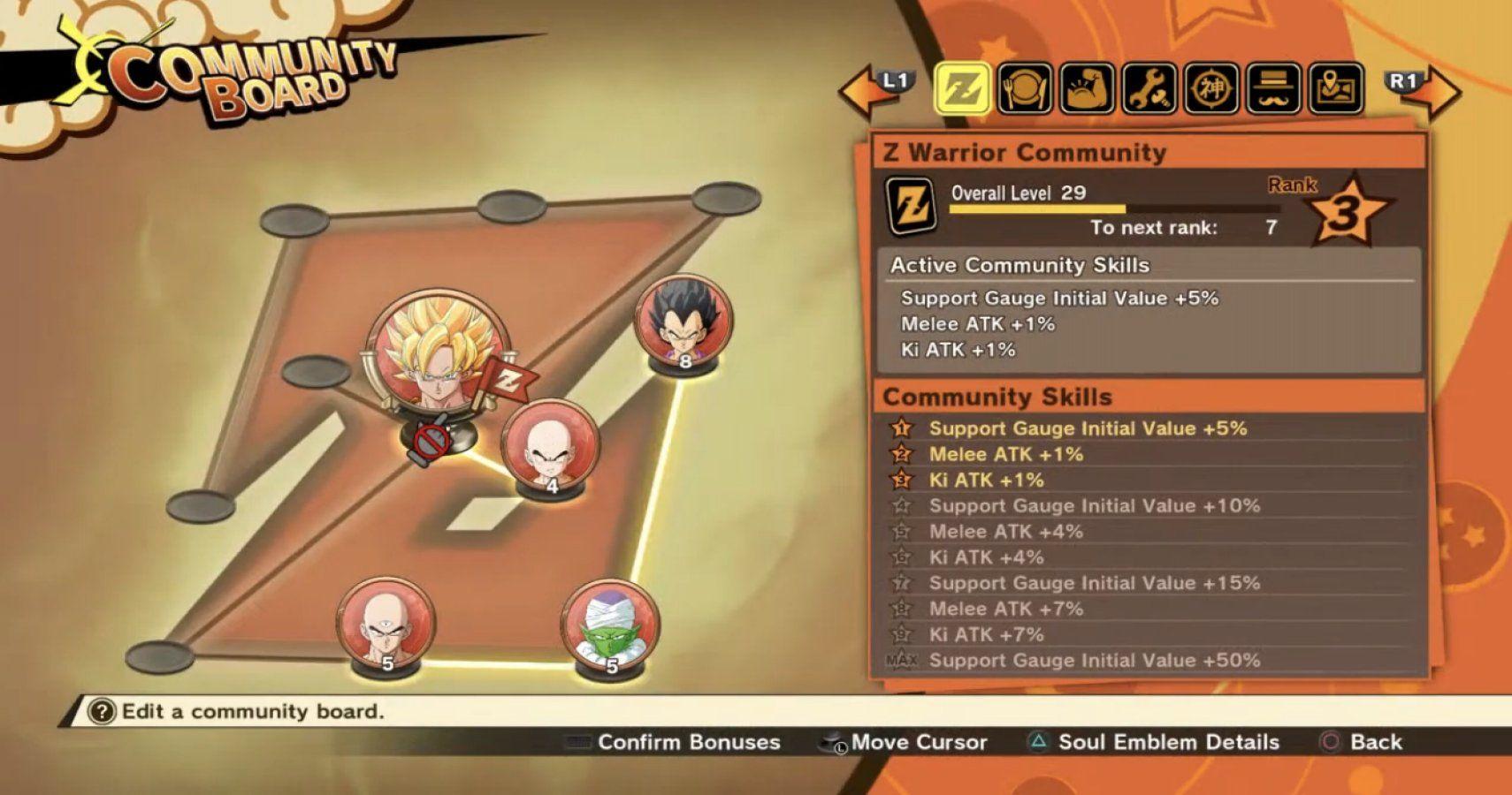 Dragon Ball Z: Kakarot - Community Board And Soul Emblems Guide