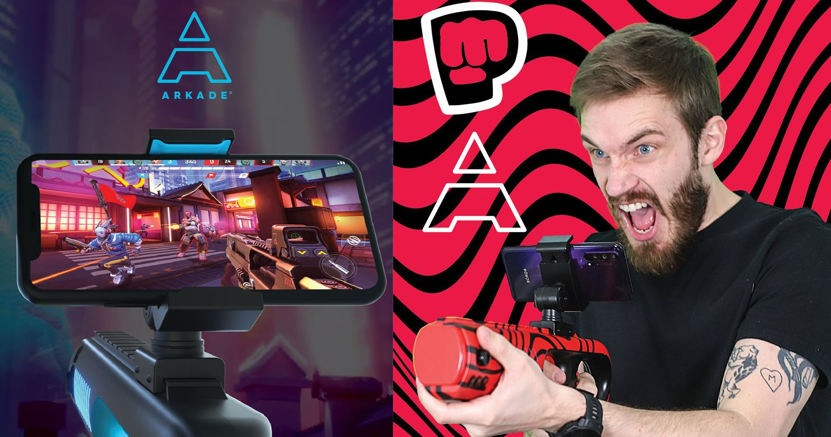 Pewdiepie Arkade Motion Blaster Turn Every Shooter Into