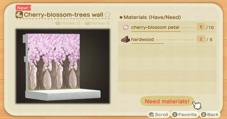 Animal Crossing New Horizons What Can You Craft With Cherry Blossom Petals