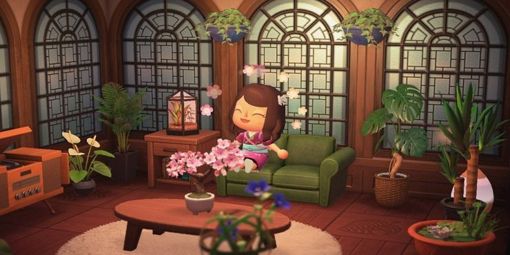 Living Room Animal Crossing New Horizons - RUNYAM on Animal Crossing Room Ideas New Horizons  id=59250