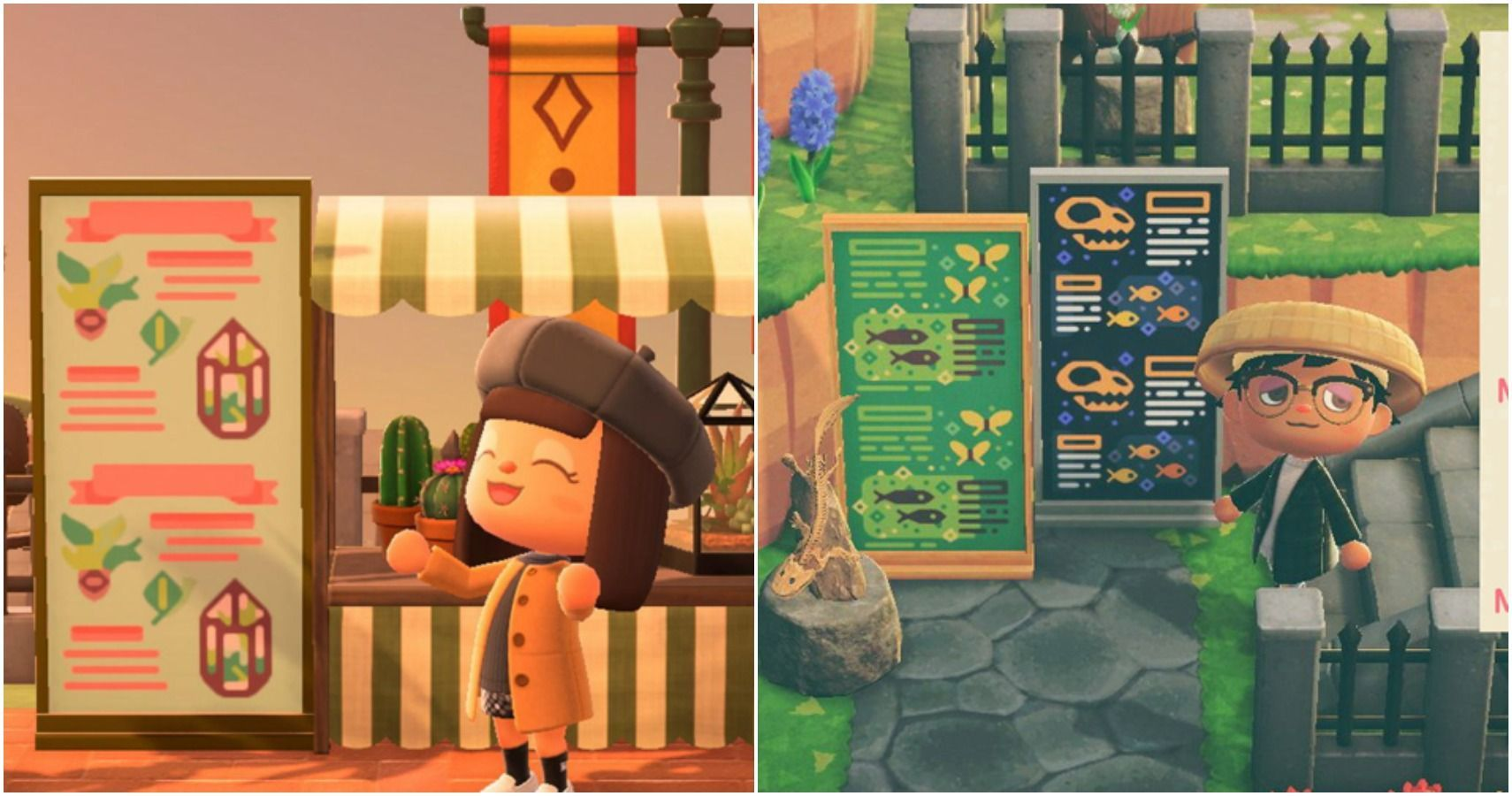 Animal Crossing New Horizons 15 Creative Simple Panel Designs